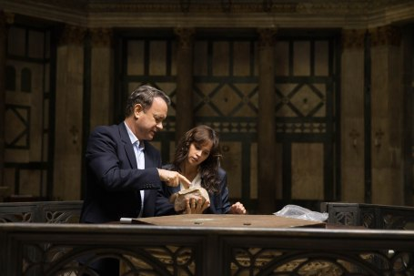 "Tom Hanks and Felicity Jones star in Columbia PIctures' ""Inferno."""